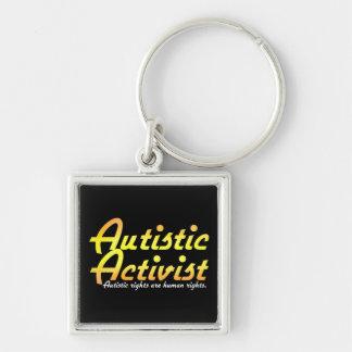 Autistic Activist (Gold) Keychain