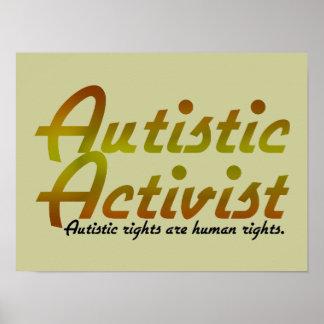 Autistic Activist Gold Poster