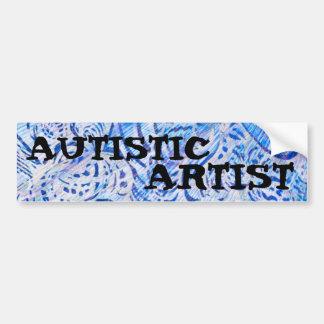AUTISTIC ARTIST BUMPER STICKER