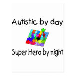 Autistic By Day Super Hero By Night Postcards