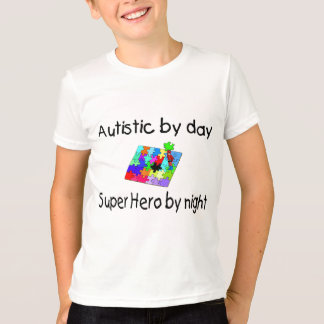 Autistic By Day Super Hero By Night T-Shirt