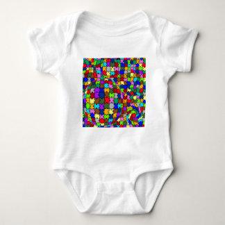 Autistic Jigsaw Warp Baby Bodysuit