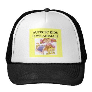 autistic kids kove animals trucker hats