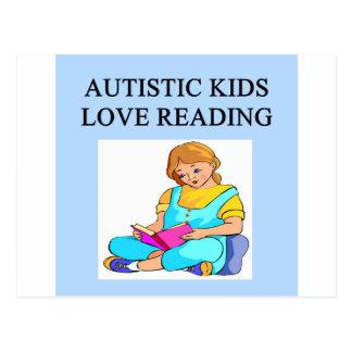 autistic kids kove reading postcard