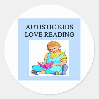 autistic kids kove reading round stickers