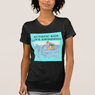 autistic kids kove swimming tee shirts