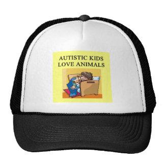 autistic kids love animals cap