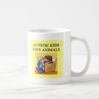 autistic kids love animals mugs