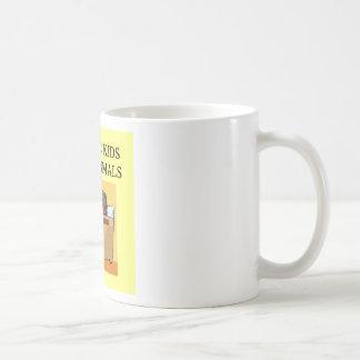 autistic kids love animals coffee mug