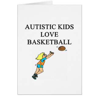 autistic kids love basketball greeting cards