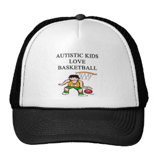 autistic kids love basketball mesh hat