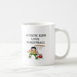 autistic kids love basketball coffee mugs