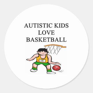 autistic kids love basketball sticker