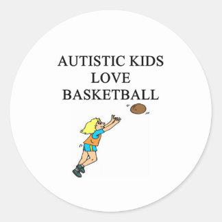 autistic kids love basketball stickers