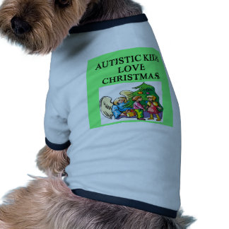 Autistic kids love Christmas Dog T Shirt