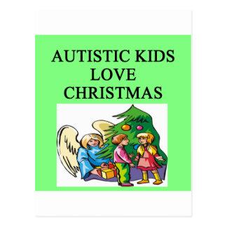 Autistic kids love Christmas Postcard
