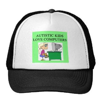 autistic kids love computers mesh hat