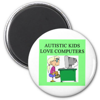autistic kids love computers refrigerator magnets
