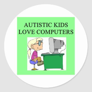 autistic kids love computers stickers