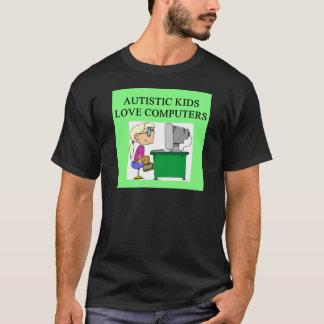 autistic kids love computers T-Shirt