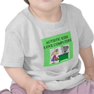 autistic kids love computers t-shirts
