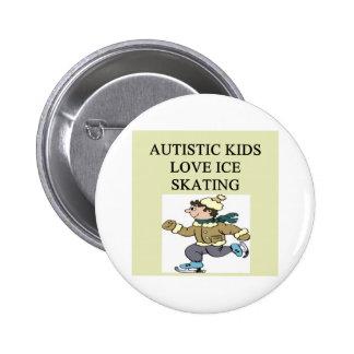 autistic kids love ice skating 6 cm round badge