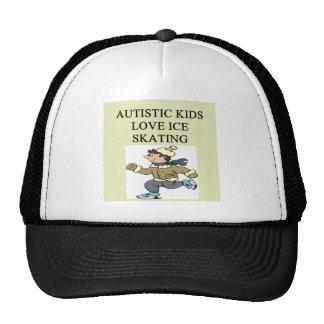 autistic kids love ice skating mesh hat