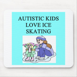 autistic kids love ice skating mouse pad