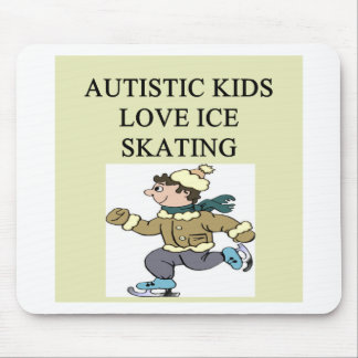 autistic kids love ice skating mouse mats