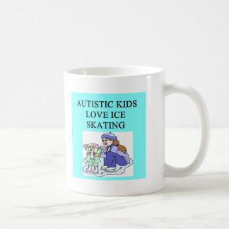autistic kids love ice skating coffee mugs