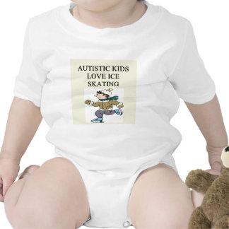 autistic kids love ice skating t-shirt
