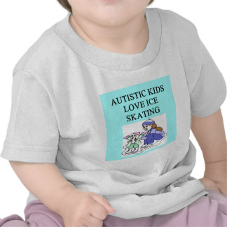 autistic kids love ice skating shirt
