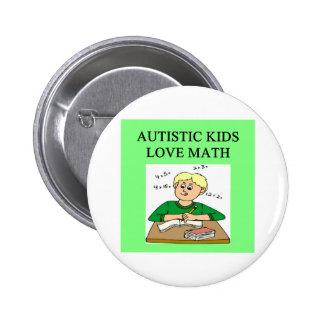 autistic kids love math 6 cm round badge