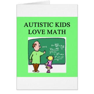 autistic kids love math greeting card