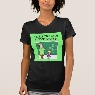 autistic kids love math tee shirts