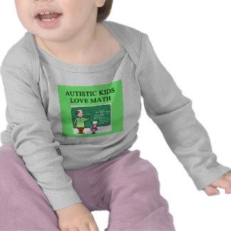 autistic kids love math shirt
