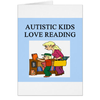autistic kids love reading greeting card