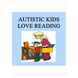 autistic kids love reading postcard