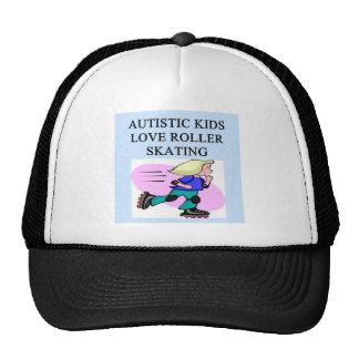 autistic kids love roller skating trucker hats