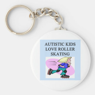 autistic kids love roller skating keychain