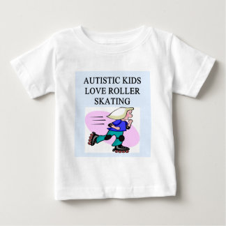 autistic kids love roller skating tshirts