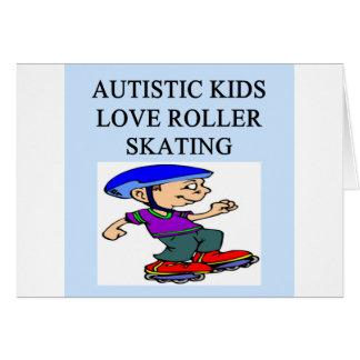 autistic kids love rollerskating greeting card