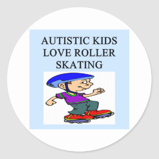 autistic kids love rollerskating sticker
