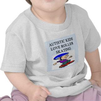 autistic kids love rollerskating tshirt