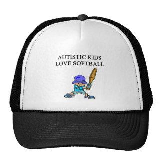 autistic kids love softball trucker hats