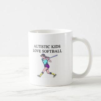 autistic kids love softball mugs