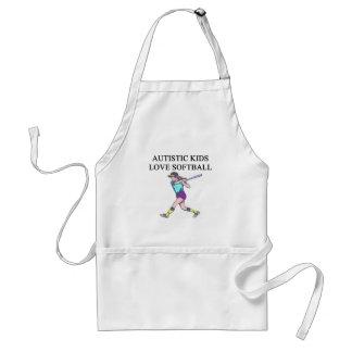 autistic kids love softball standard apron