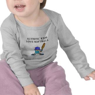 autistic kids love softball t-shirts