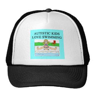 autistic kids love swimming trucker hat