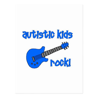 Autistic Kids Rock with Guitar multiple colors Post Cards